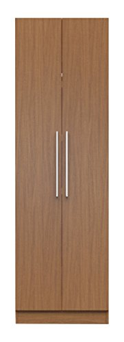 Manhattan Comfort Chelsea Basic Wardrobe Closet 1.0 Collection Free Standing Clothing Wardrobe with 3 Drawers, 2 Storage Compartments, 1 Hanging Rod and 2 Doors, 27