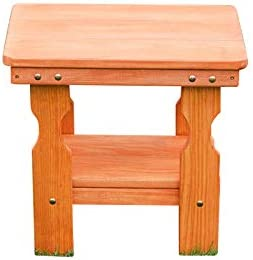 Amish Heavy Duty Pressure Treated End Table Cedar Stain
