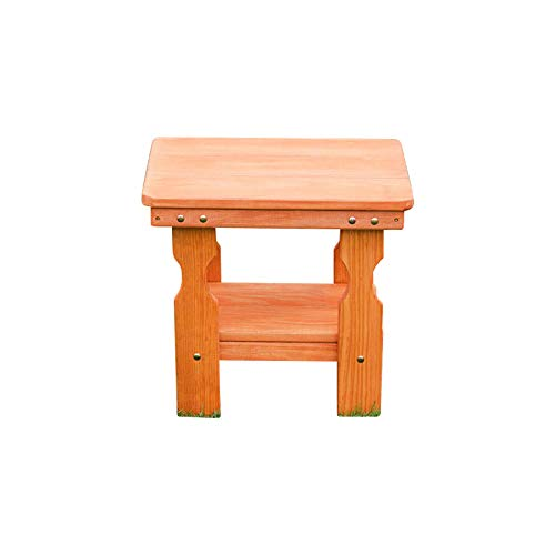 (Amish Heavy Duty Pressure Treated End Table (Cedar Stain))