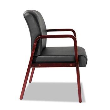 Reception Lounge Series Guest Chair, Cherry/Black (Alera Furniture Alera Cherry)