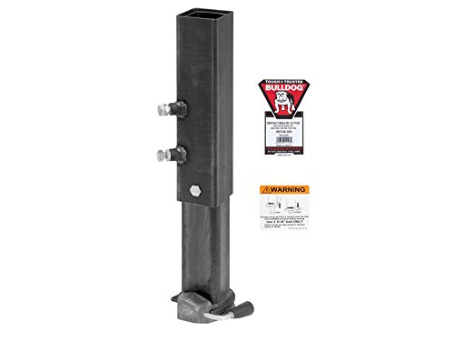 Jack Hex Bulldog (Bulldog 1289140300 BX1 30K Square Gooseneck Coupler, Includes Hex Head Bolt & Nylon Locknut, Dual Set Bolts, 4 Hole Adjustment and Labels)