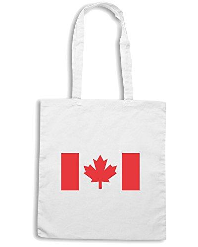 T-Shirtshock - Bolsa para la compra TM0175 Canada flag Blanco