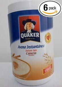 Quaker Avena Instantánea Canela Instant Cinnamon Oats Net Wt. 11.6 Oz (Pack of 6