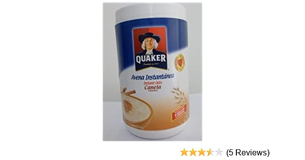 Amazon.com: Quaker Avena Instantánea Canela Instant Cinnamon Oats Net Wt. 11.6 Oz (Pack of 6): Oatmeal Breakfast Cereals