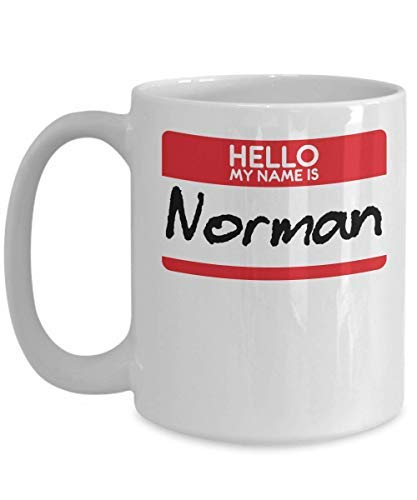 Film Buff Halloween Costumes (Novelty Coffee Mug My Name Is Norman Horror Film Halloween Costume Trick Or Treat Gift Film Buffs Scary Mug Birthday Gift Sarcasm Mug Cup)