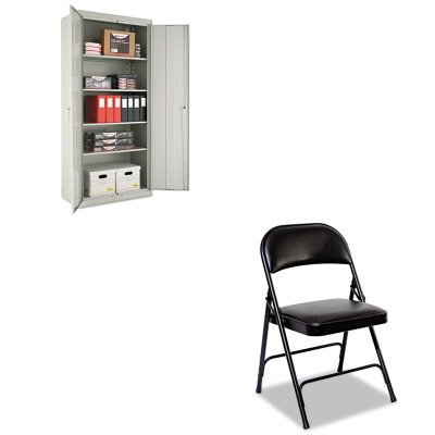KITALECM7818LGALEFC96B - Value Kit - Best Assembled 78amp;quot; High Storage Cabinet (ALECM7818LG) and Best Steel Folding Chair With Padded Back/Seat (ALEFC96B) by Best
