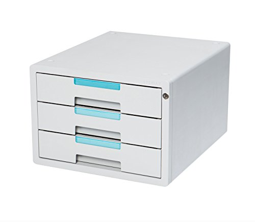 3 Drawers Flat File Cabinet Index Key Lock Office Cabinet System 1123K by Sysmax
