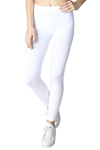 (Nikibiki Women's Seamless Base Layer Legging Tights, One Size (White #2))