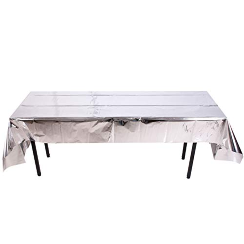 NszzJixo9 Leaveable Tablecloth Christmas Party Decoration Foil Tablecloth Make Party Great Fun Large Plastic Rectangle Table Cover ()