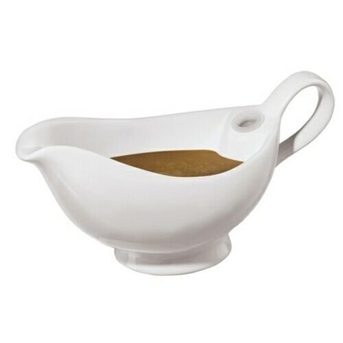 Double Wall Ceramic Sauce/gravy Server Warming Gravy Boat