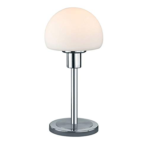 Arnsberg Wilhelm Matte Nickel Led Table Lamp With Bowl Dome Shade
