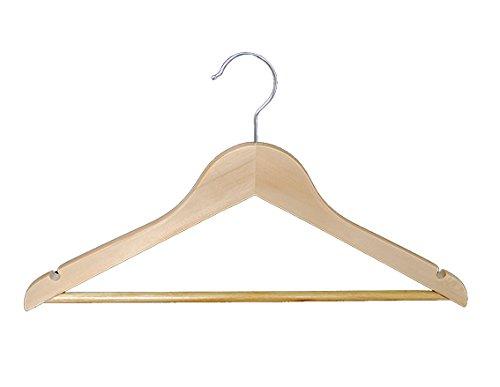 木製ハンガー シャツ用 42cm 100本セット B00MGMD8RW