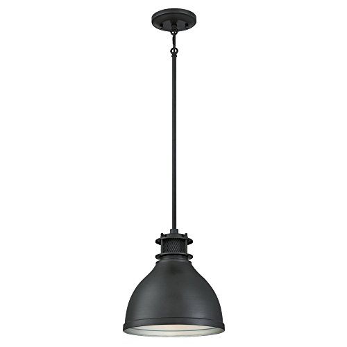 Metal Base Finish Gunmetal (Westinghouse 6326800 One-Light Indoor Pendant, Matte Brushed Gun Metal Finish with Mesh Detail, Brushed Gunmetal)