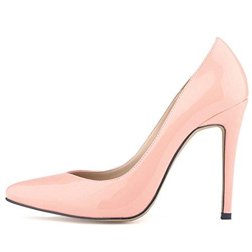 Corte r Surtidor Rosado De Mujer Alto Trabajo Patente Delgados Sodial Para Pu Estilo 40 zapatos Zapatos Tacon EUxBPTqBw