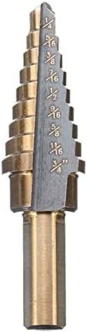Milling Machine Bit Set 3/16-1/2 1/4-3/4 3/16-7/8 Inch 3pcs HSS Step Drill