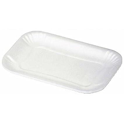 Bandejas de poliestireno para alimentos 100 unidades por envase 204 cm 26x17