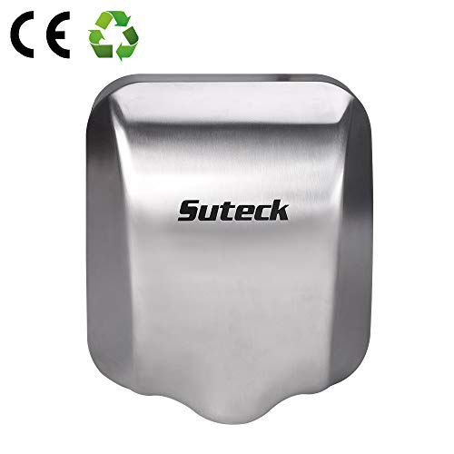 Suteck Automatic Electric Hand Dryer - Heavy Duty Commercial Hand Dryers 1800W, 100M/S High Speed Hand Dryer for Bathrooms Restrooms, Instant Heat & Dry