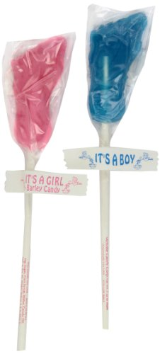 Melville Candy Lollipops, Baby Feet, 0.6-Ounce Lollipops (Pack of 24)
