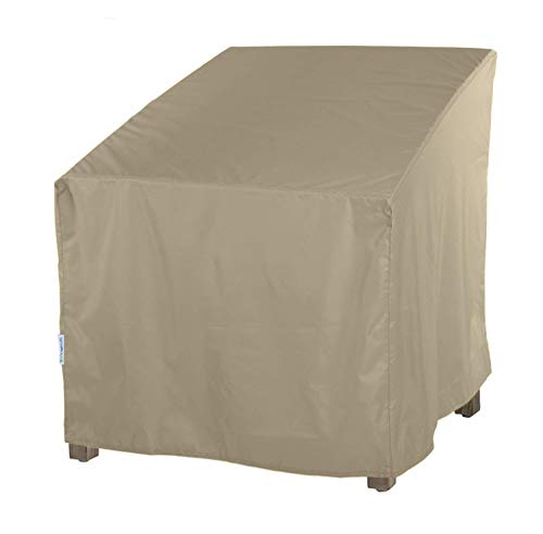 SunPatio Outdoor Oversized Club Chair Cover, Water Resistant, Lightweight, Helpful Air Vents, All Weather Protection, 40 W x 34 D x 39 H, Neutral Taupe