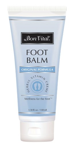Bon Vital Foot Balm for Dry, Cracked Heels & Foot Repair, 3.38 Ounce Tube (Urea Crystals compare prices)