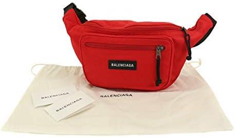 新品 未使用 バレンシアガ BALENCIAGA エクスプローラー ベルトバック ボディ ウエスト バッグ ナイロン レッド 482389 【中古】 90099977