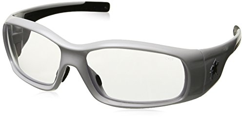Crews SR120 Swagger Brash Look Polycarbonate Dual Lens Glasses with Polished White Frame and Clear Lens