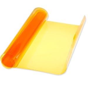 """47""""x11.8"""" 30x120cm Custom DIY Orange Protective Cover Overlay Protector Car Auto Headlight Tail Light Fog Lamp Light Tint Vinyl Film"""