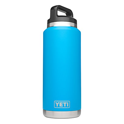YETI Rambler 36oz Vacuum Insulated Stainless Nerve Bottle with Cap (Stainless Steel) (Tahoe Blue)