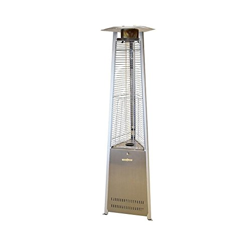 Crown Verity CV-2670-SS Liquid Propane Outdoor Patio Heater with Quartz Tube (Stainless Steel) For Sale
