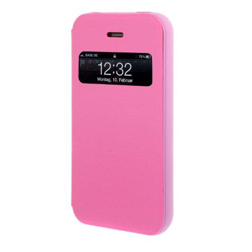 Tasche für iPhone 4, 4S, 4G Handytasche Schutz Hülle Wallet Cover Flip Book Case Etui - Pink / Rose