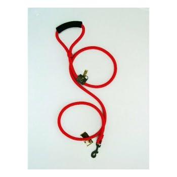 "Timberwolf Alpine Rope Dog Leash ~Red~ 7/16""x 72"""