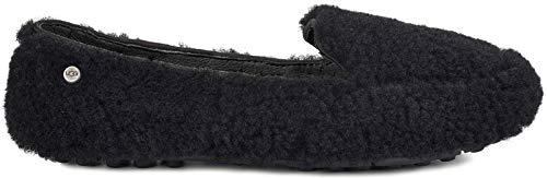 UGG Women's Hailey Fluff Loafer Black 11 B US B (M)]()