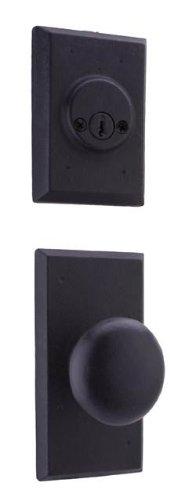 Weslock 07802--F2SL2D Aspen Interior Entry Handle, Black ()