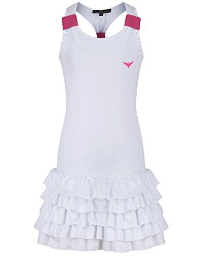 Bace Girls White Tennis Dress with Frill, Tennis Dress Junior Junior Tennis Dress Golf Dress Girls Golf Dress Girls Sportswear