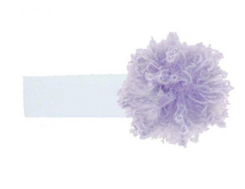 Jamie Rae Hats White Soft Headband with Lavender Small Curly Marabou, Size: 12m+ (Headband Rae Jamie Hats)