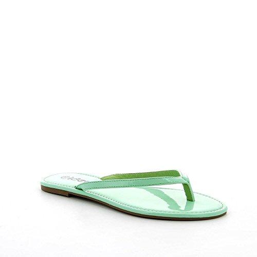 Ideal Shoes, Damen Zehentrenner, Blau Turquoise, 40