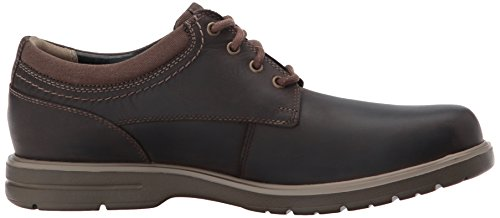 Clarks Mens Vossen Plain Oxford Brown Leather