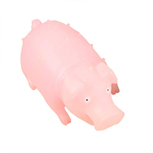 (Move on Funny Cartoon Screaming Pig LED Lighting Kids Toy Stress Reliever Gift Pink)