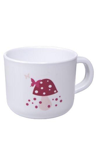 Lässig Dish Cup Melamin Tasse Trinkbecher aus 100% Melamin BPA-frei Mushroom magenta