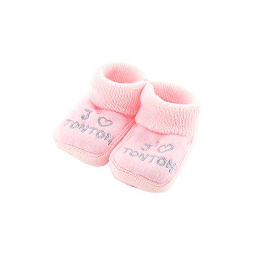 botines bebé rosada Meses 0-3 - Como el Tío