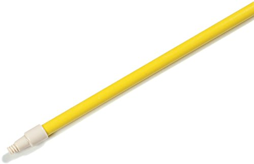 Carlisle 4022704 Sparta Yellow Threaded Solid Foam-Filled Fiberglass Handle with Self-Locking Flex Tip, 60'' L x 1'' Dia. (Case of 12) by Carlisle