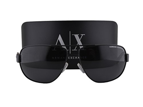 Armani Exchange AX2012S Sunglasses Matte Black w/Gray Solid Lens 606387 AX - France Hut Sunglass