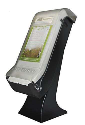 (Tork 5555100 Xpressnap Stand Napkin Dispenser with Drive Thru Face Plate, 22.5