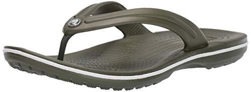Crocs Unisex Crocband Flip Flop, army green/white 6 US Men/ 8 US Women M US ()