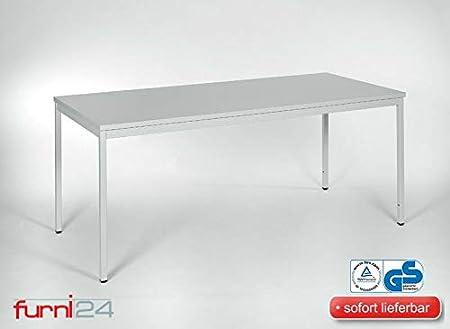 Furni 24 Beistelltisch Bürotsich Esstisch Konferenztisch Mehrzwecktisch Besuchertisch PC Tisch Schreibtisch 180 cm x 80 cm x