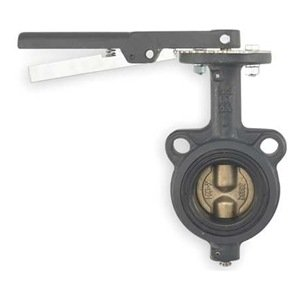 Butterfly Valve, Wafer, 6 In, PTFE Liner by Milwaukee Valve