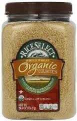 RiceSelect Organic Whole Wheat Couscous, 26.5-Ounce Jars (Pack of 2) by Rice Select