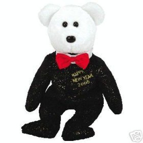 1 X TY Beanie Baby - COUNTDOWN the Bear (Internet Exclusive) (misc version) ()