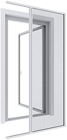 WIP Mosquitera de aluminio – Mosquitera para puerta enrollable 140 x 225 cm blanco antracita: Amazon.es: Hogar