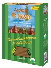Andean Dream Organic Vegetarian Quinoa Noodle Soup, 5 Ounce - 6 per case.